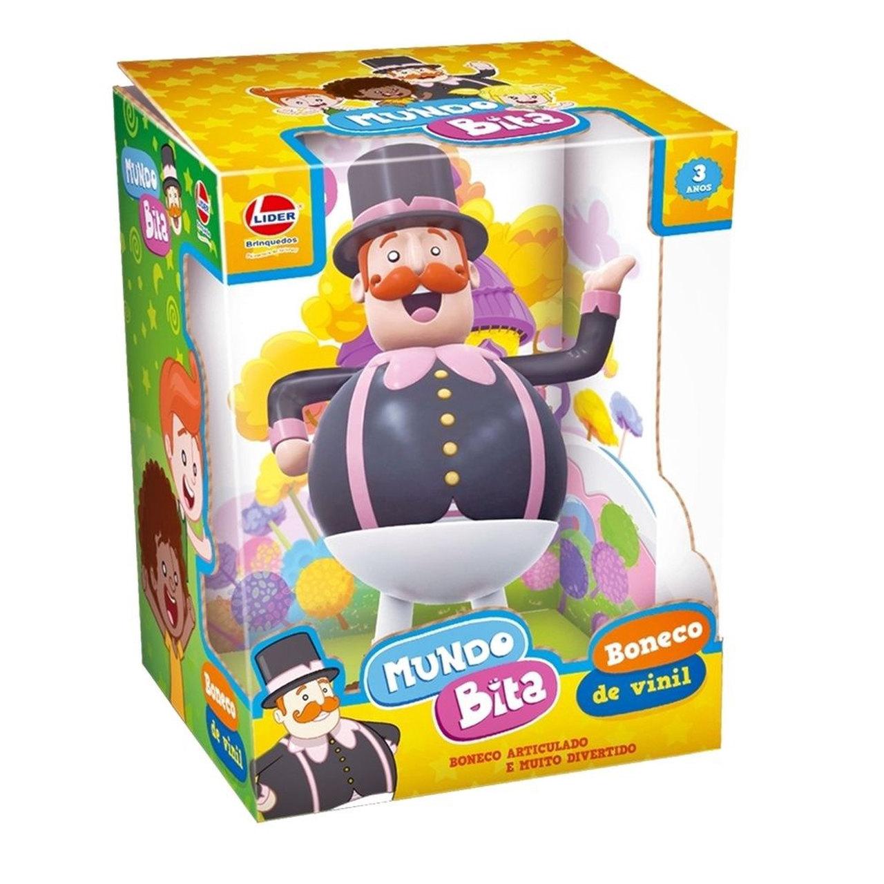 Boneco Mundo Bita Vinil Oficial Lider Brinquedos