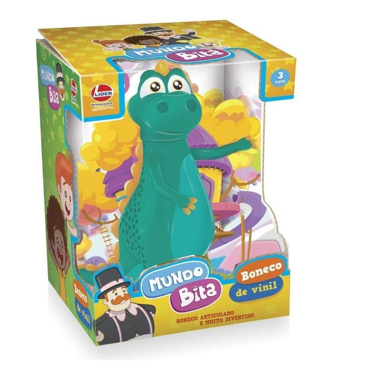 Boneco Vinil Dinossauro Argo Mundo Bita Oficial Lider Brinquedos