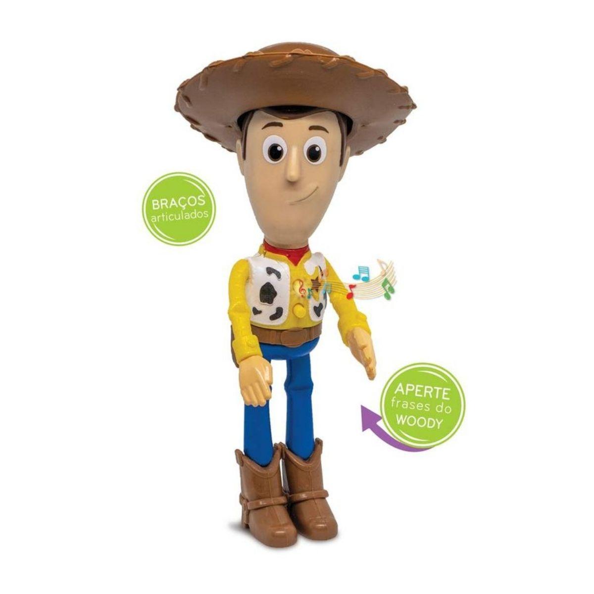 Boneco Woody Toy Story Fala Frases Elka