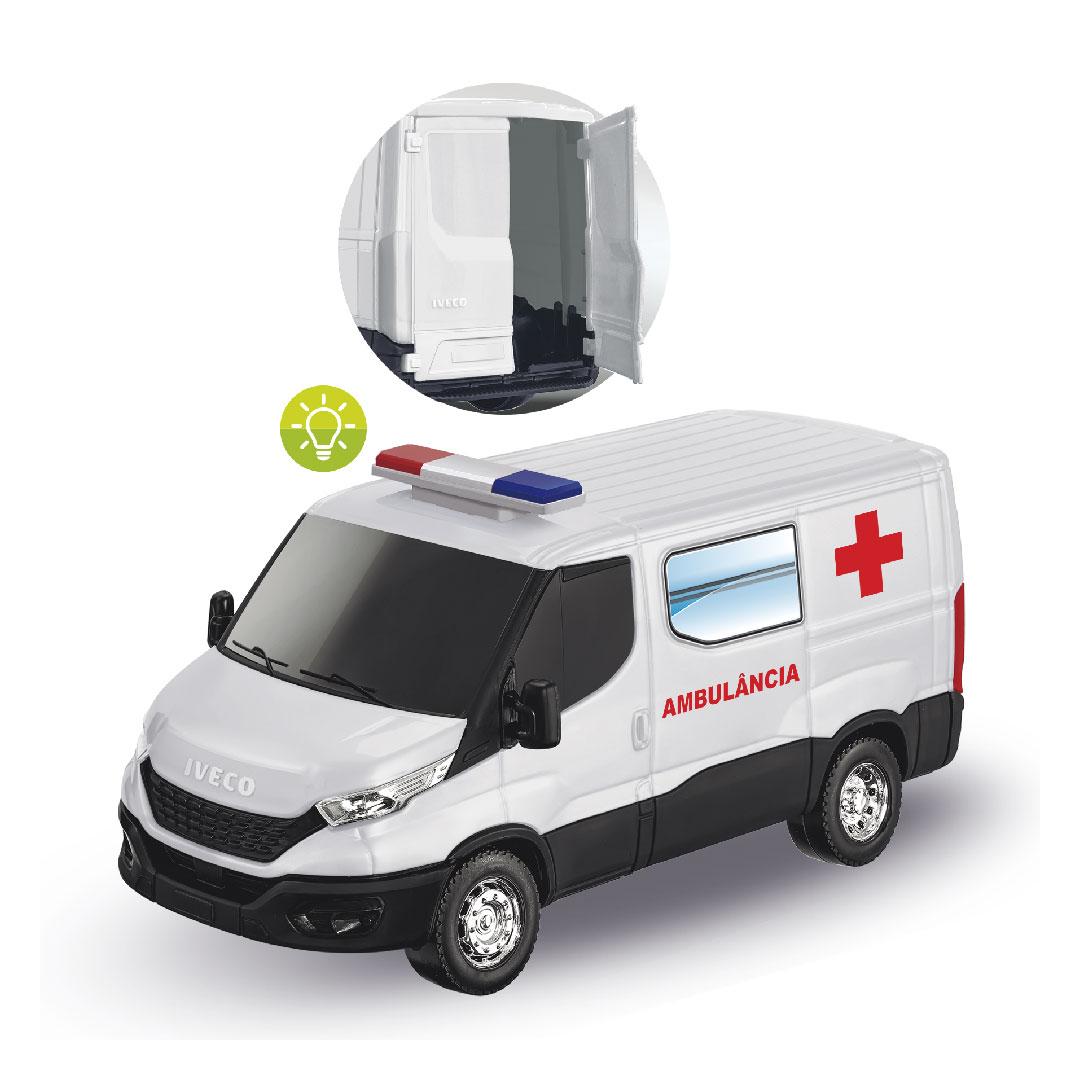 Brinquedo Caminhão Ambulância Iveco Daily Usual