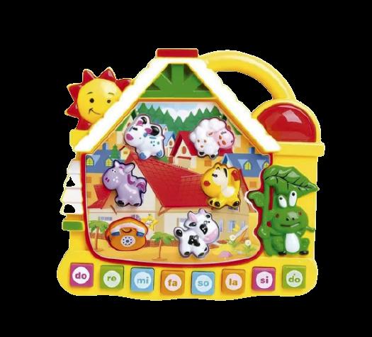 Brinquedo Educativo Casinha Paradise Com Luz E Som - Dm Toys