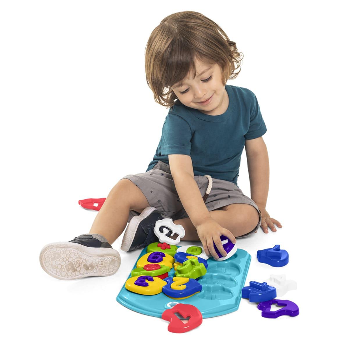 Brinquedo Educativo Encaixe Aprendendo Números Puzzle 24pçs - Tateti