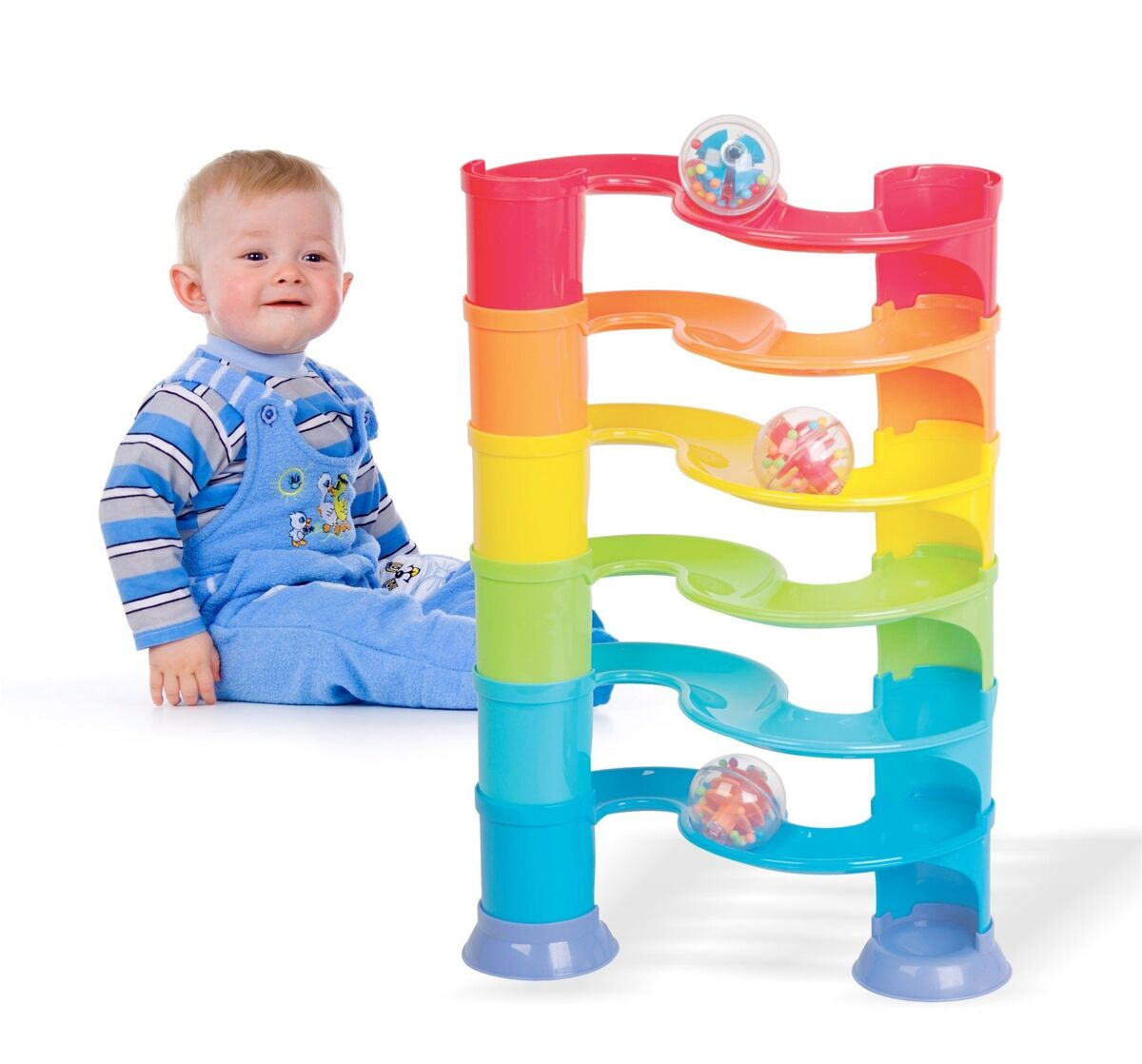 Brinquedo Escorregador de Bola Para Bebes Divertido MapToy