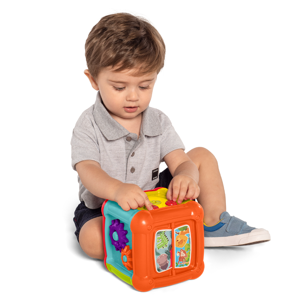 Brinquedo Infantil Educativo Cubo Fun Para Bebê - Tateti 874