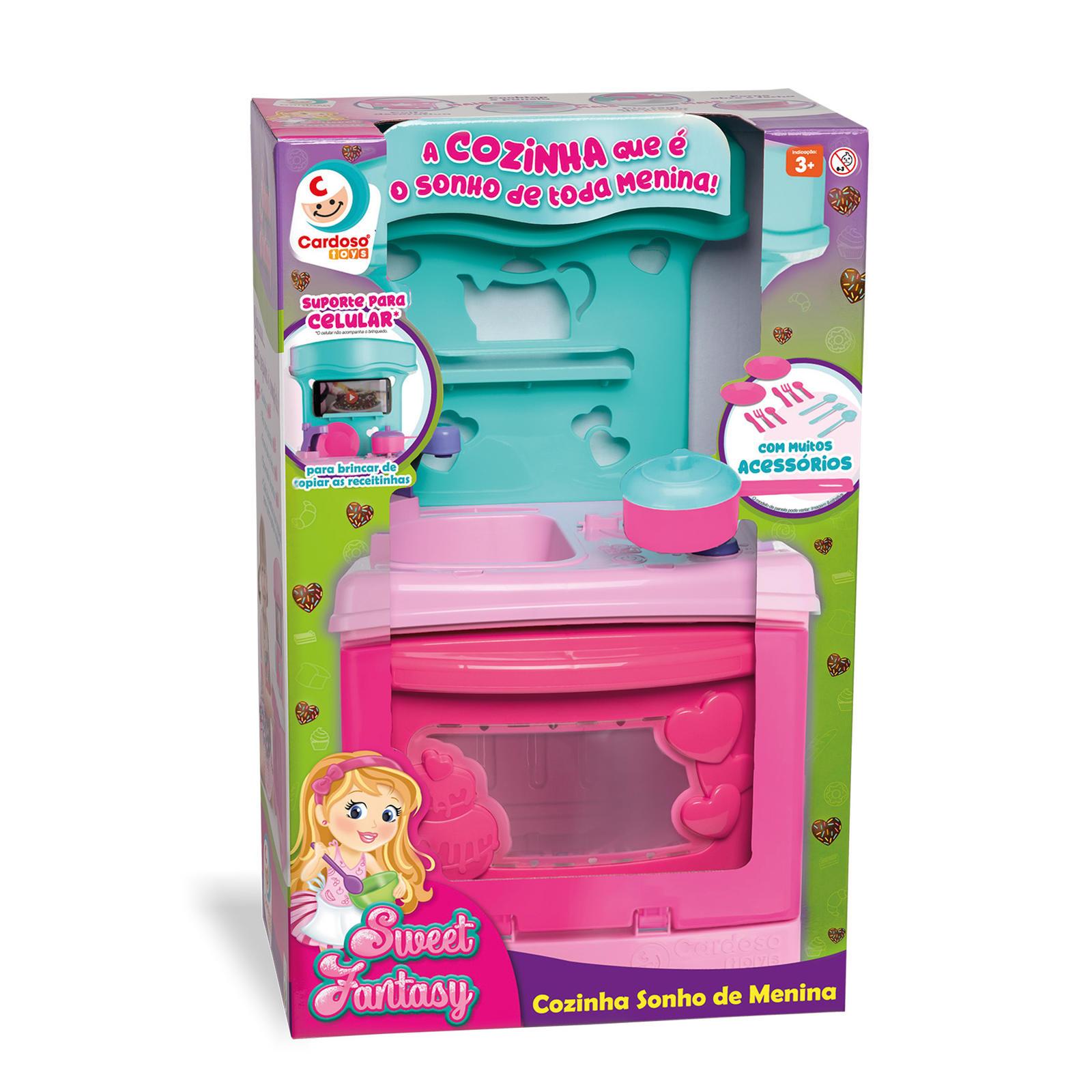 Brinquedo Sweet Fantasy Cozinha Sonho de Menina - Cardoso