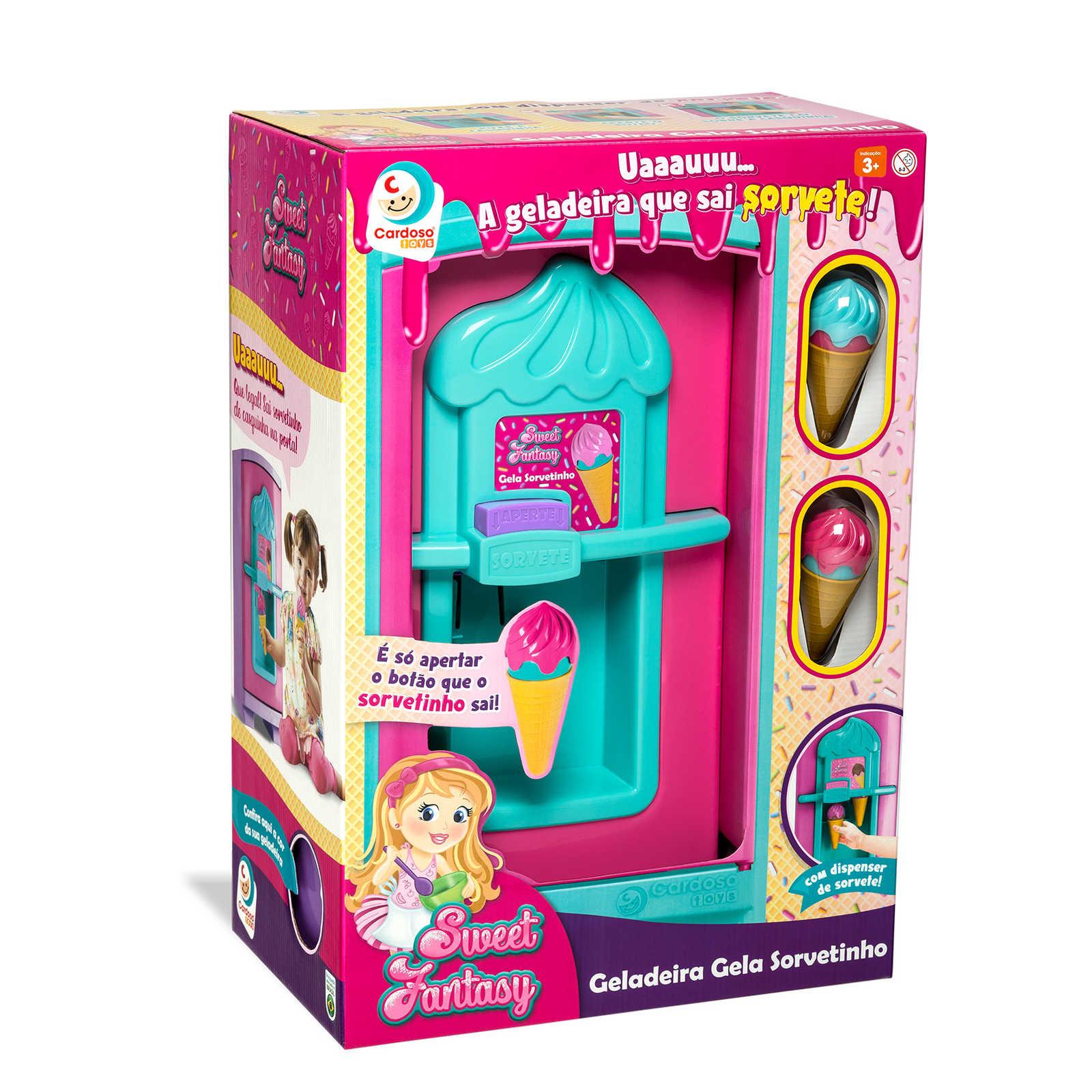 Brinquedo Sweet Fantasy Geladeira Gela Sorvetinho - Cardoso