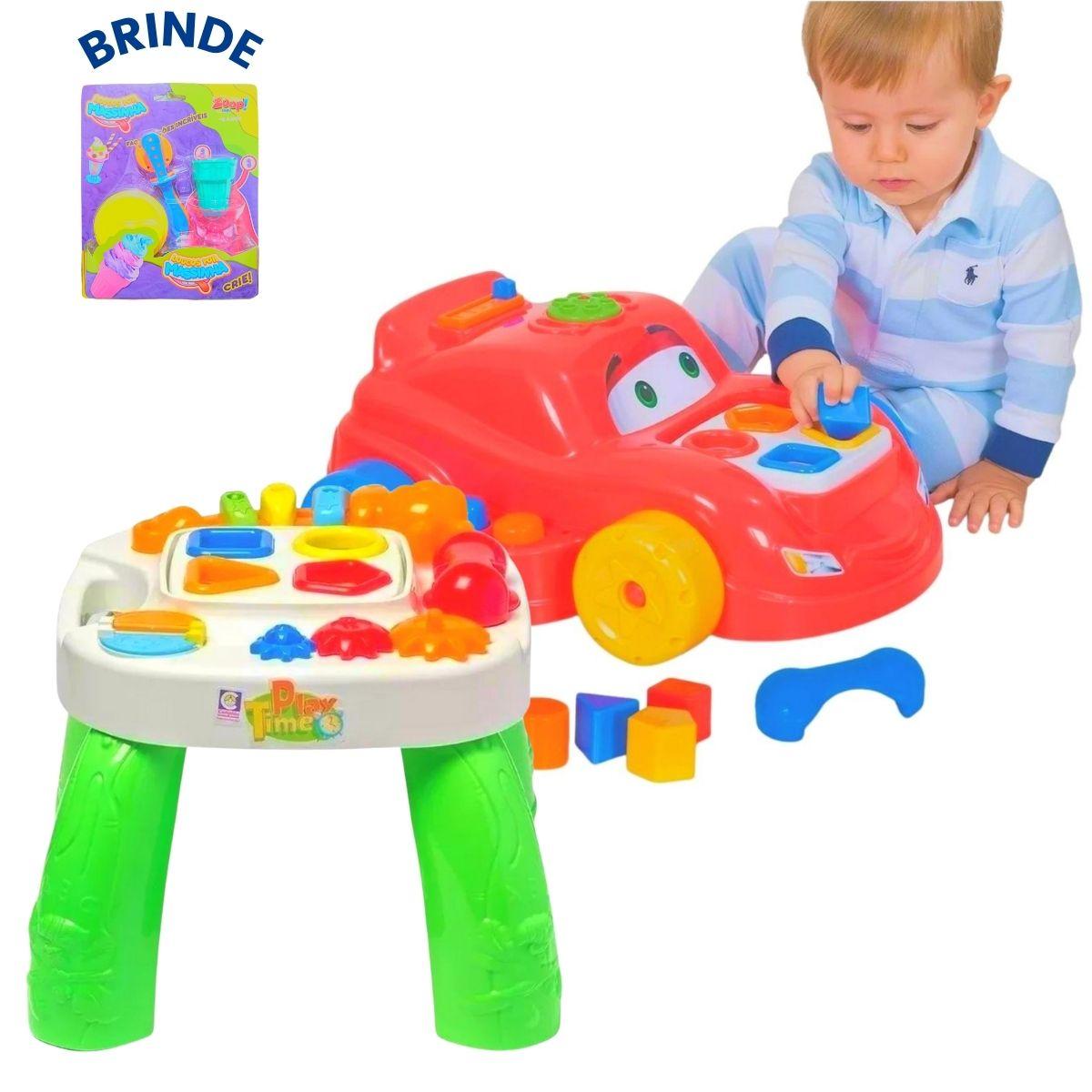 Brinquedos Educativos Cotiplás Infantis + Brinde Massinha