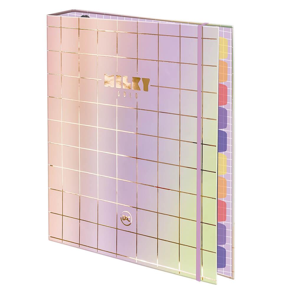 Caderno Argolado Fichário Milky c/ 48 Folhas DAC