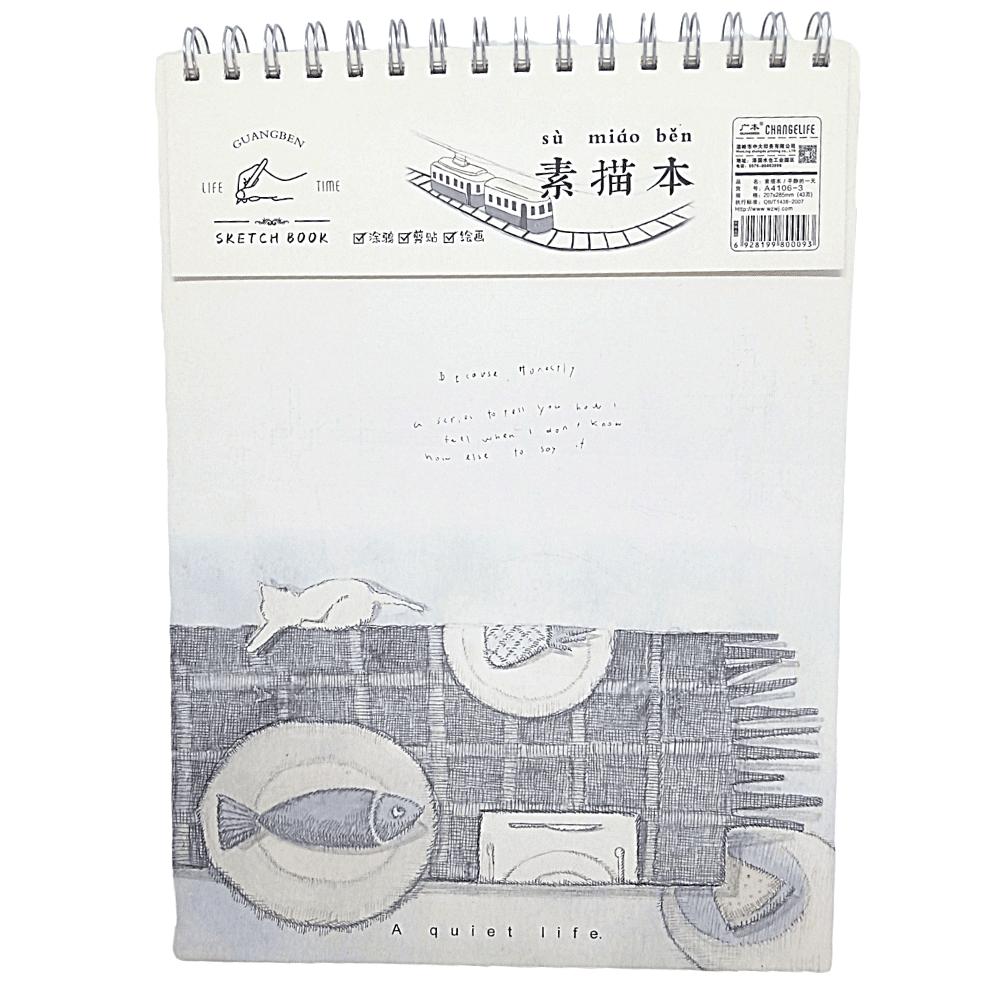 Caderno para Desenho Sketchbook C/ 43 páginas