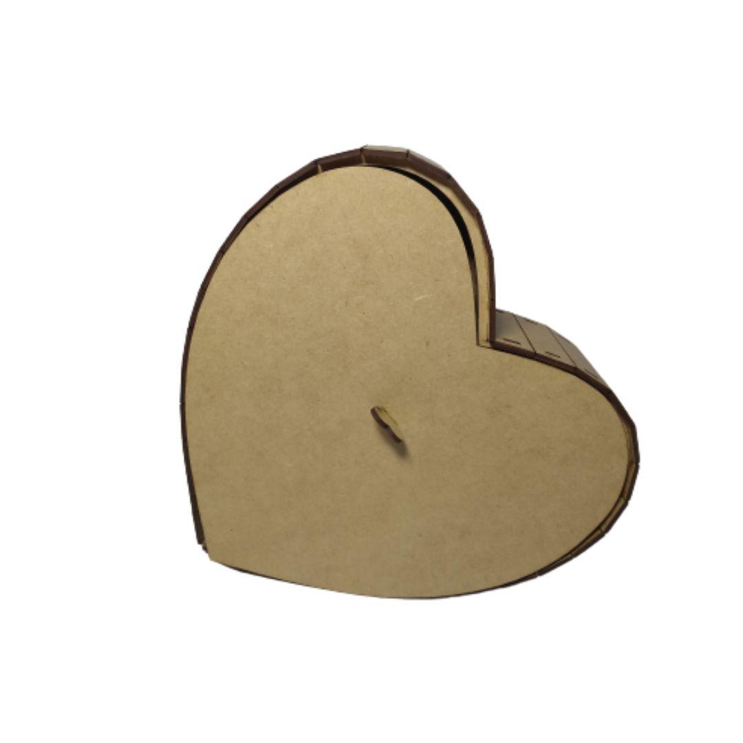 Caixa Coração em Mdf Cru Tamanho M
