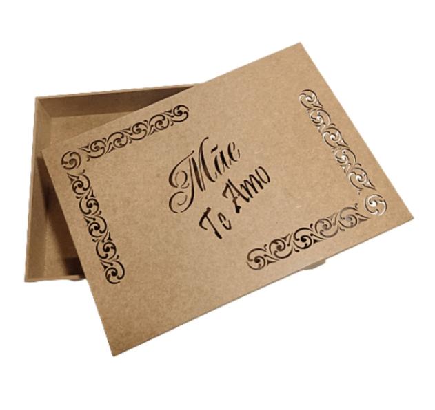 Caixa de presente MDF Dia das Mães 22x35