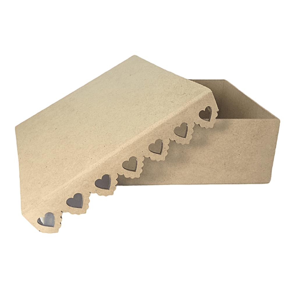 Caixa MDF Com Borda Rendada de Coração Pequena 20x20x9