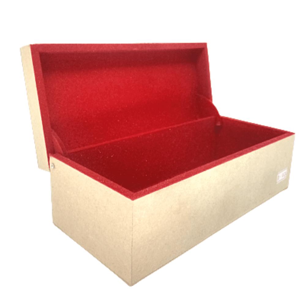 Caixa MDF Personalizada interior Flocada de Vermelho 20X10X8