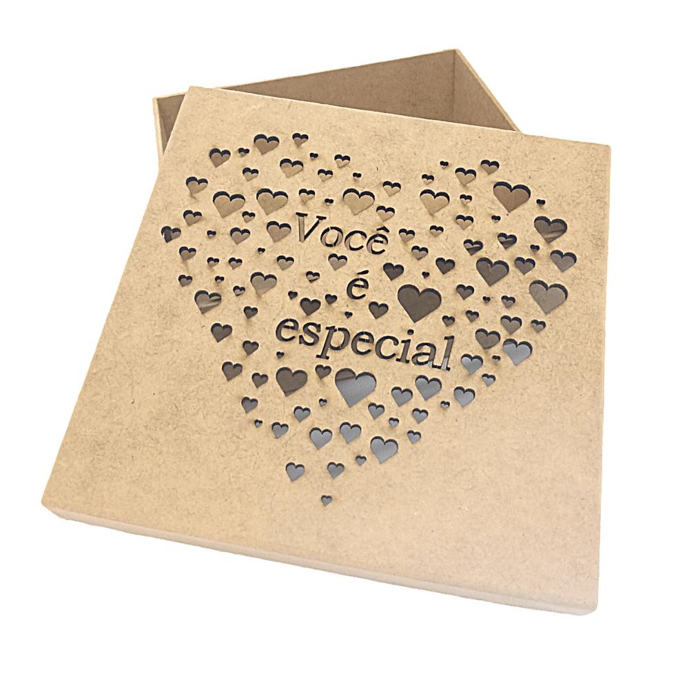 Caixa Mdf Personalizadas Coração Você É Especial 16x16x6
