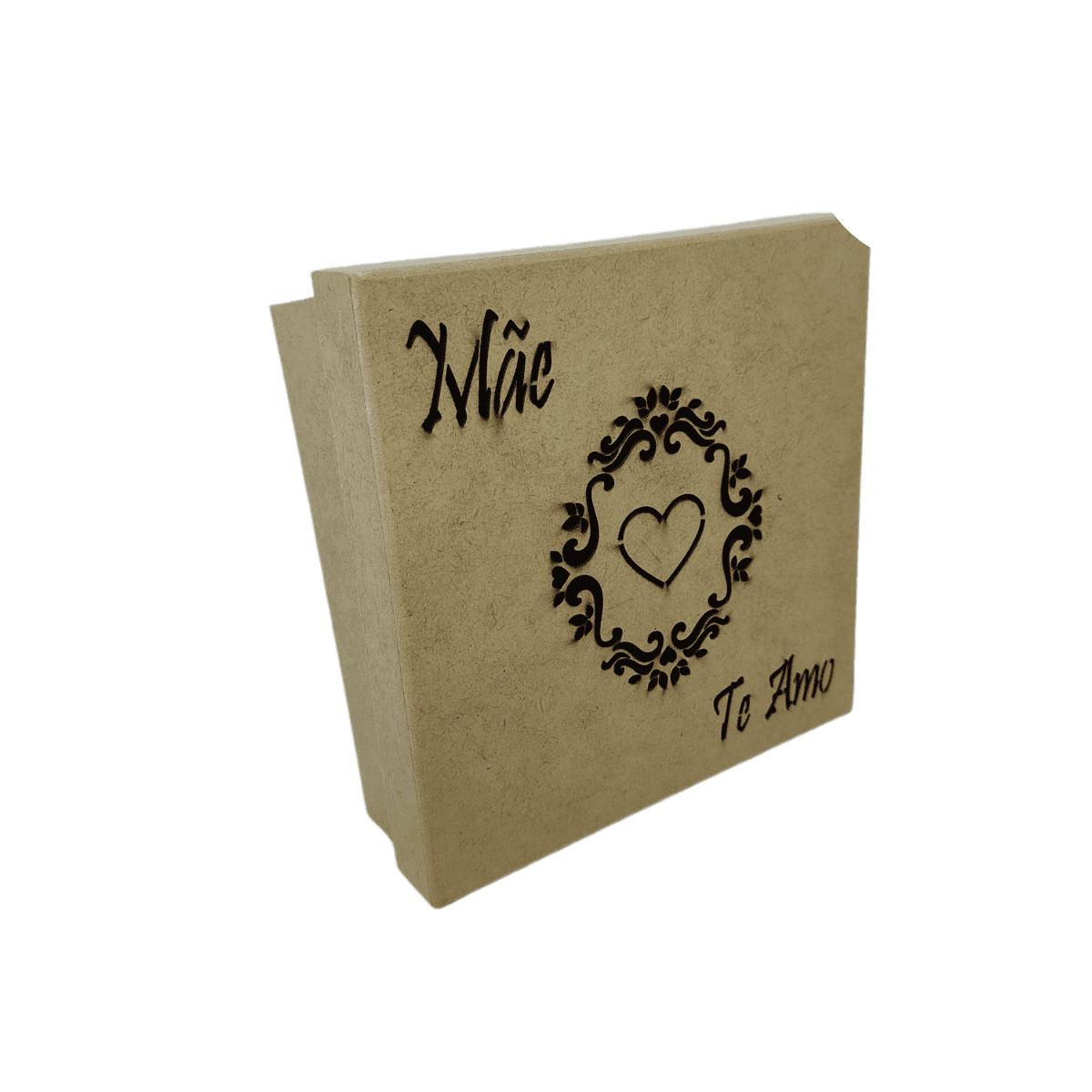 Caixa de Presente MDF Dia das Mães 15x15 Decorada