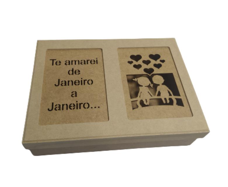 Caixa Mdf Porta Joias TE Amarei de Janeiro A Janeiro Linda