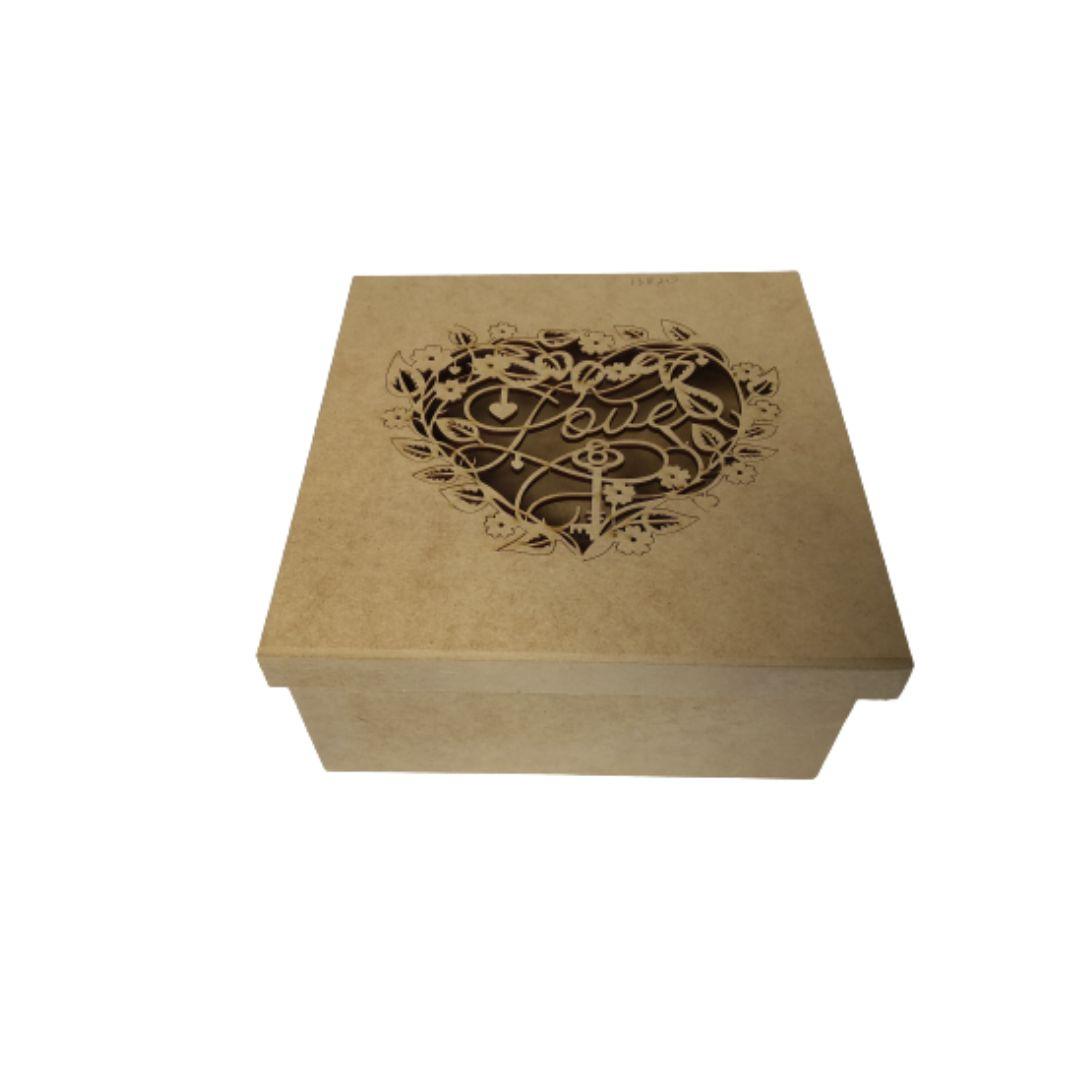 Caixa Mdf Presente Personalizadas Love - 20x20x10 cm