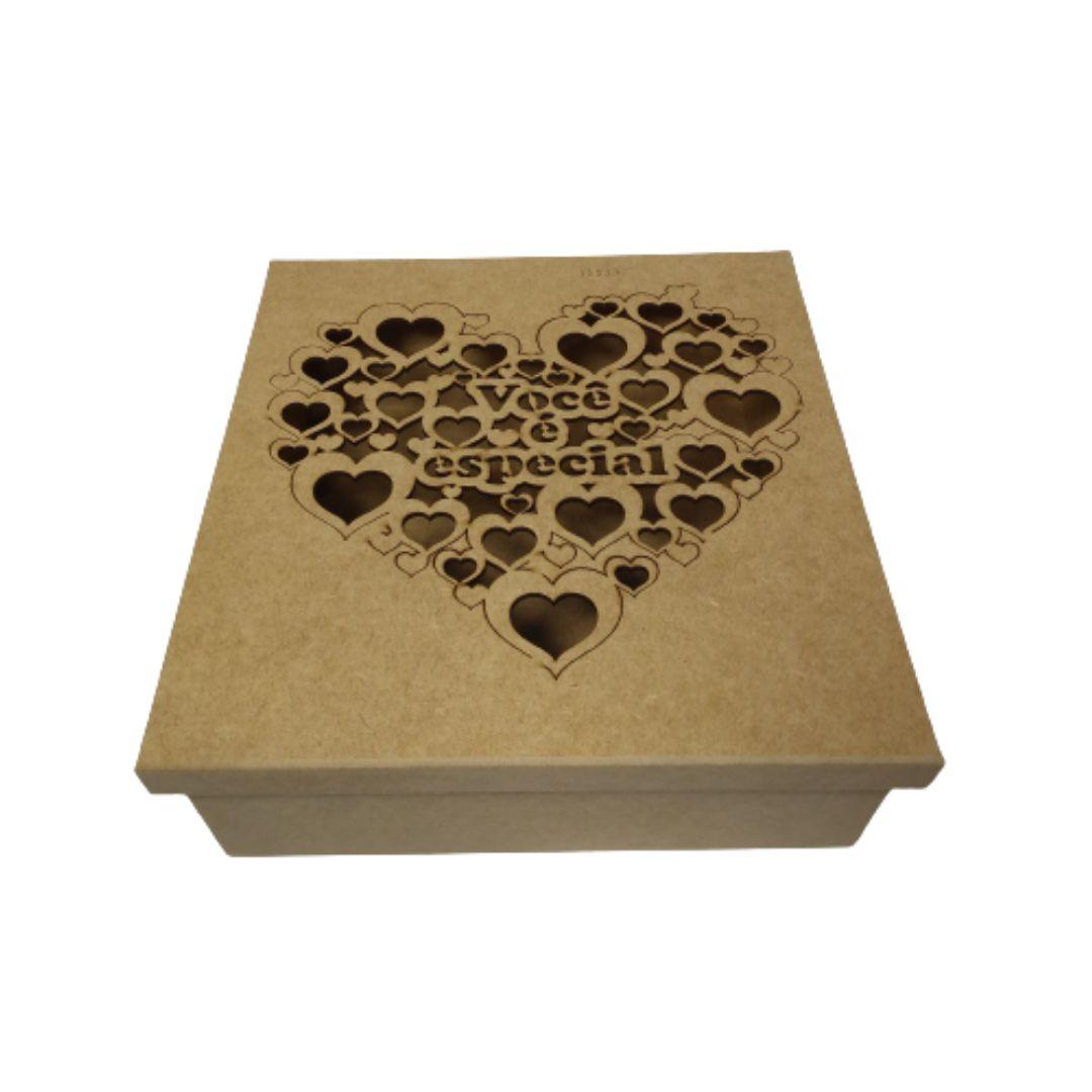 Caixa de Presente Personalizadas Você É Especial - MDF 25X25