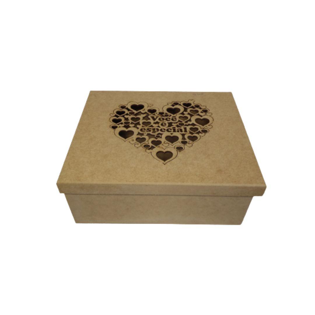 Caixa Mdf Presente - Personalizadas Você É Especial 20x20x10