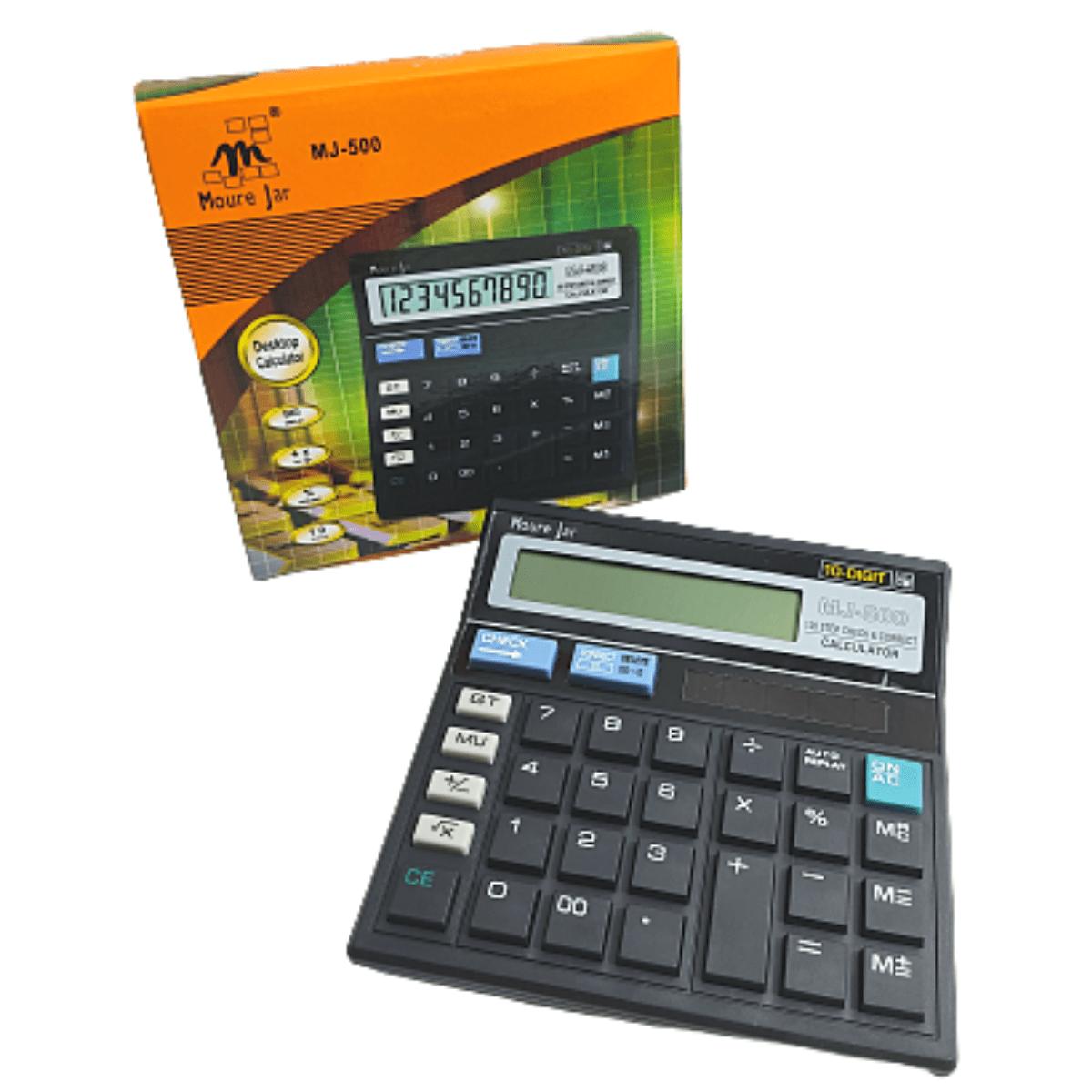 Calculadora de Mesa Eletrônica Escritório Comercial Preta