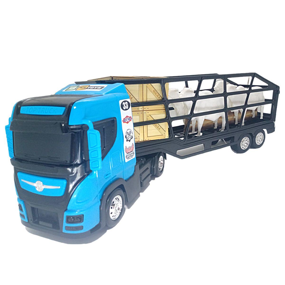 Caminhão de Brinquedo Boiadeiro Top Truck com Bois Bs toys