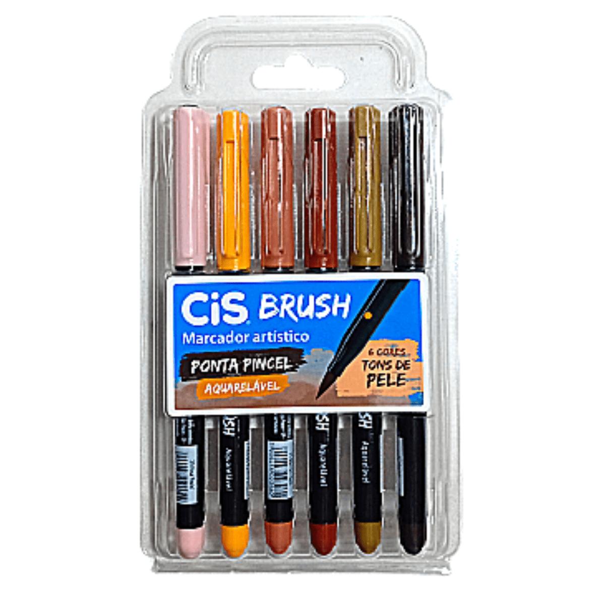 Caneta Pincel Aquelável Cis Brush Pen Tons de Pele