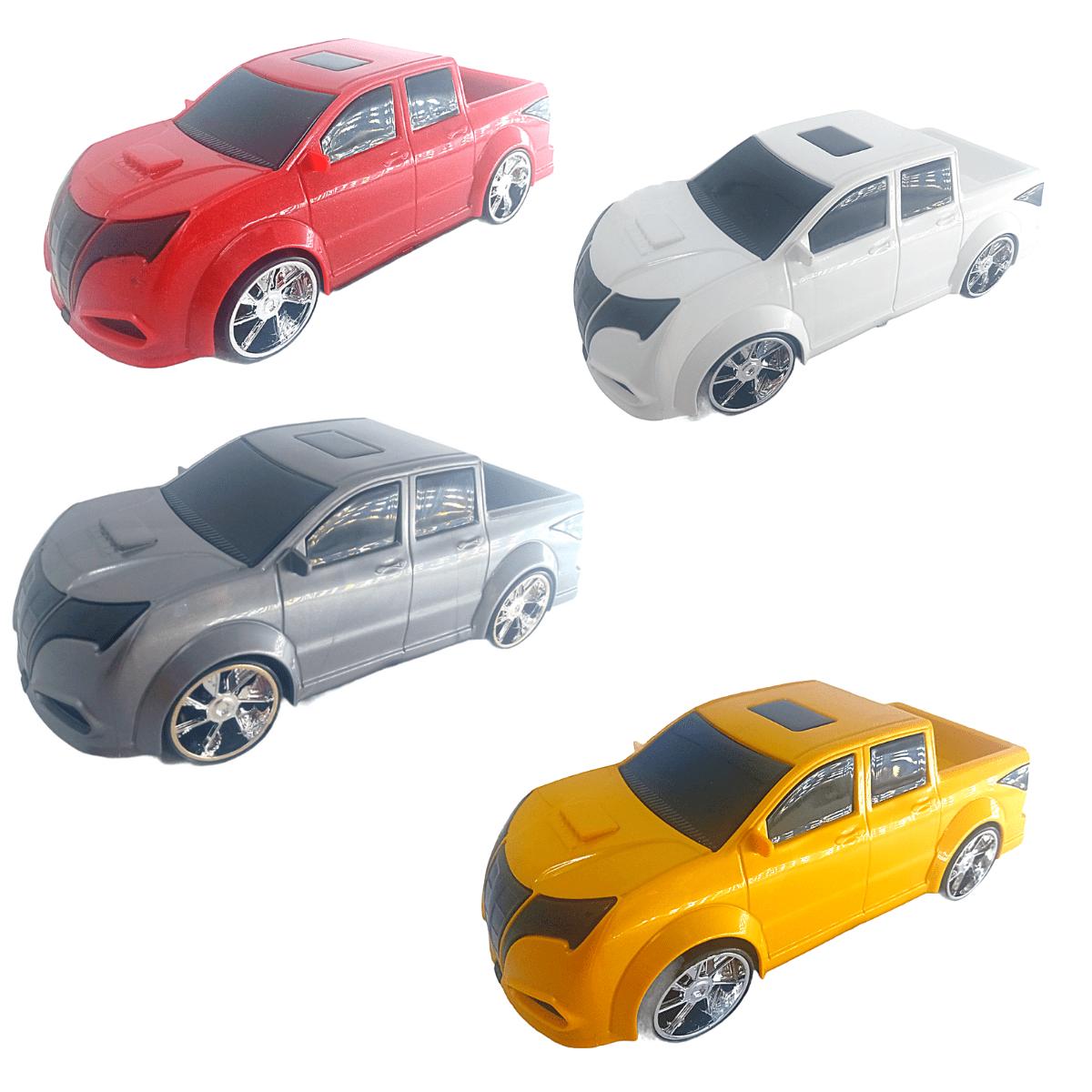 Carrinho de Brinquedo Pick Up Saturno Concept Car C/ 4  Modelos
