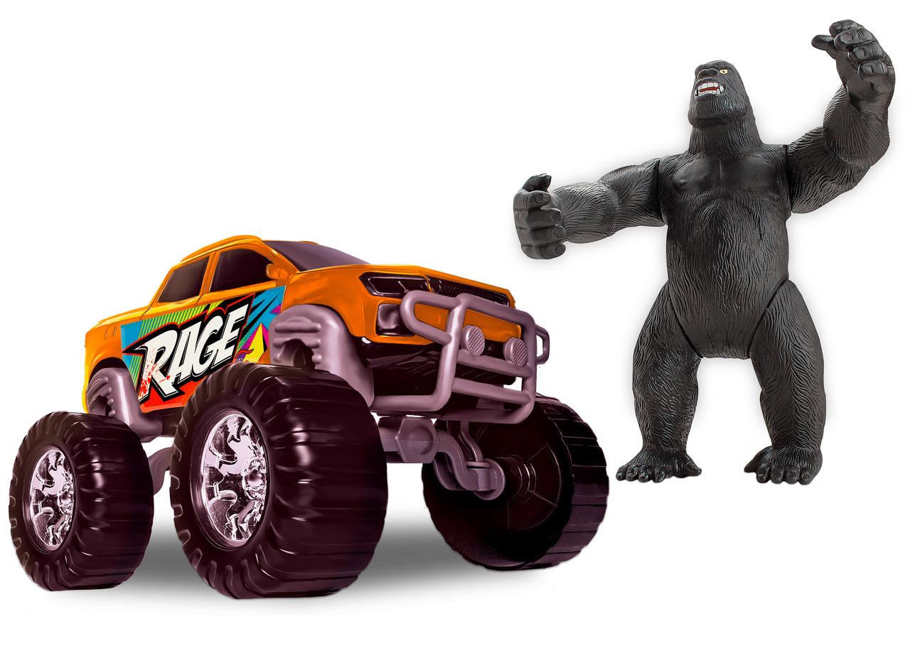 Carrinho de Brinquedo Rage Truck com Gorila Samba Toys