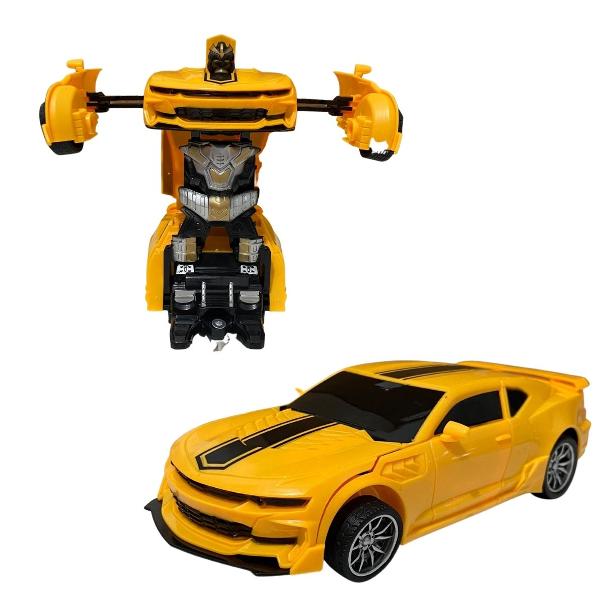 Carrinho de Controle Remoto Robô-Car Titanium Carro Transforma em Robô