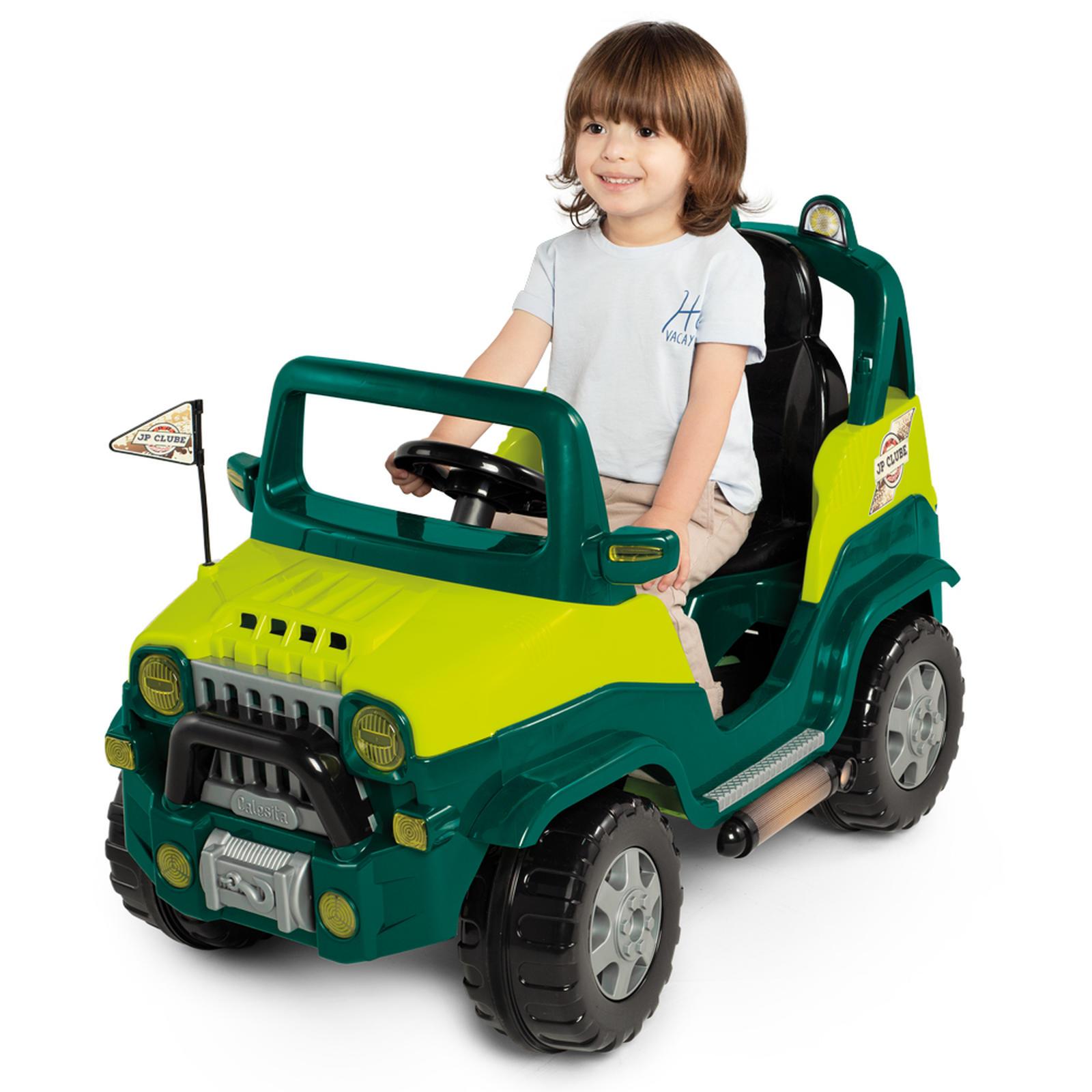 Carrinho De Passeio/pedal Infantil Diipi Verde/Rosa - Calesita