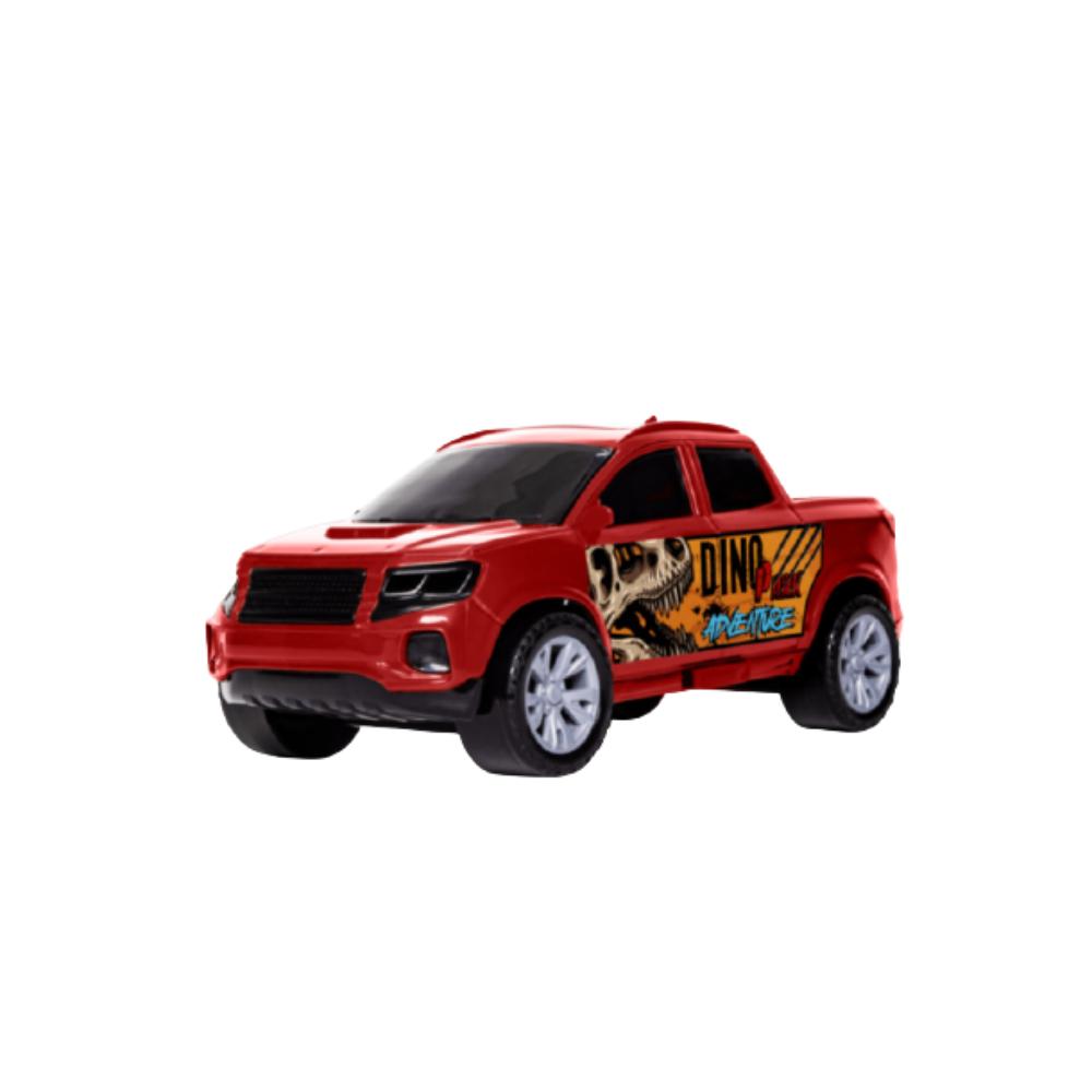 Carrinho Dino Park Adventure Pickup Com Soldado- Samba Toys