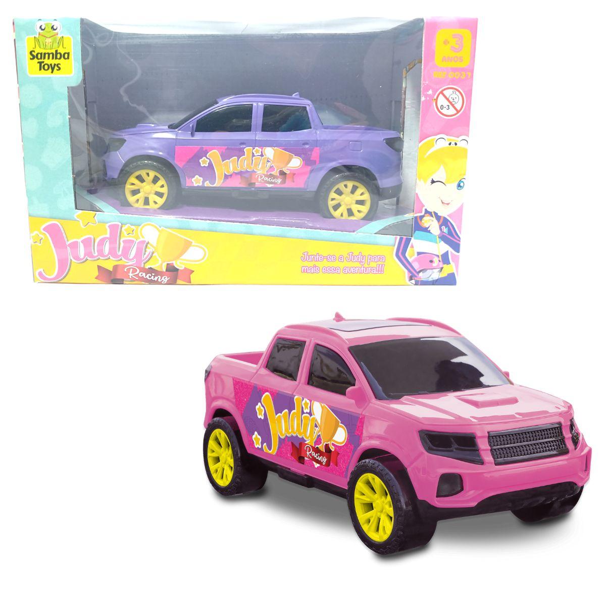 Carrinho Para Boneca Picape Rosa e Roxa - Judy Samba Toys