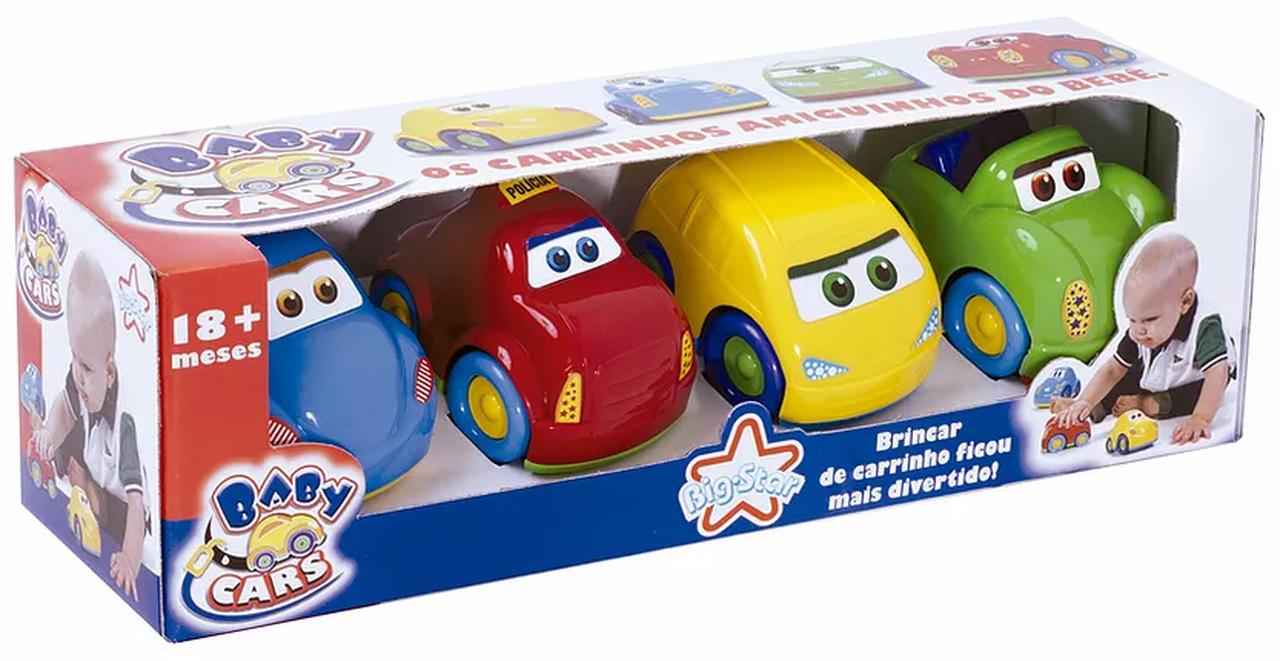 Carrinhos Baby Cars Conjunto com 4 Big Star