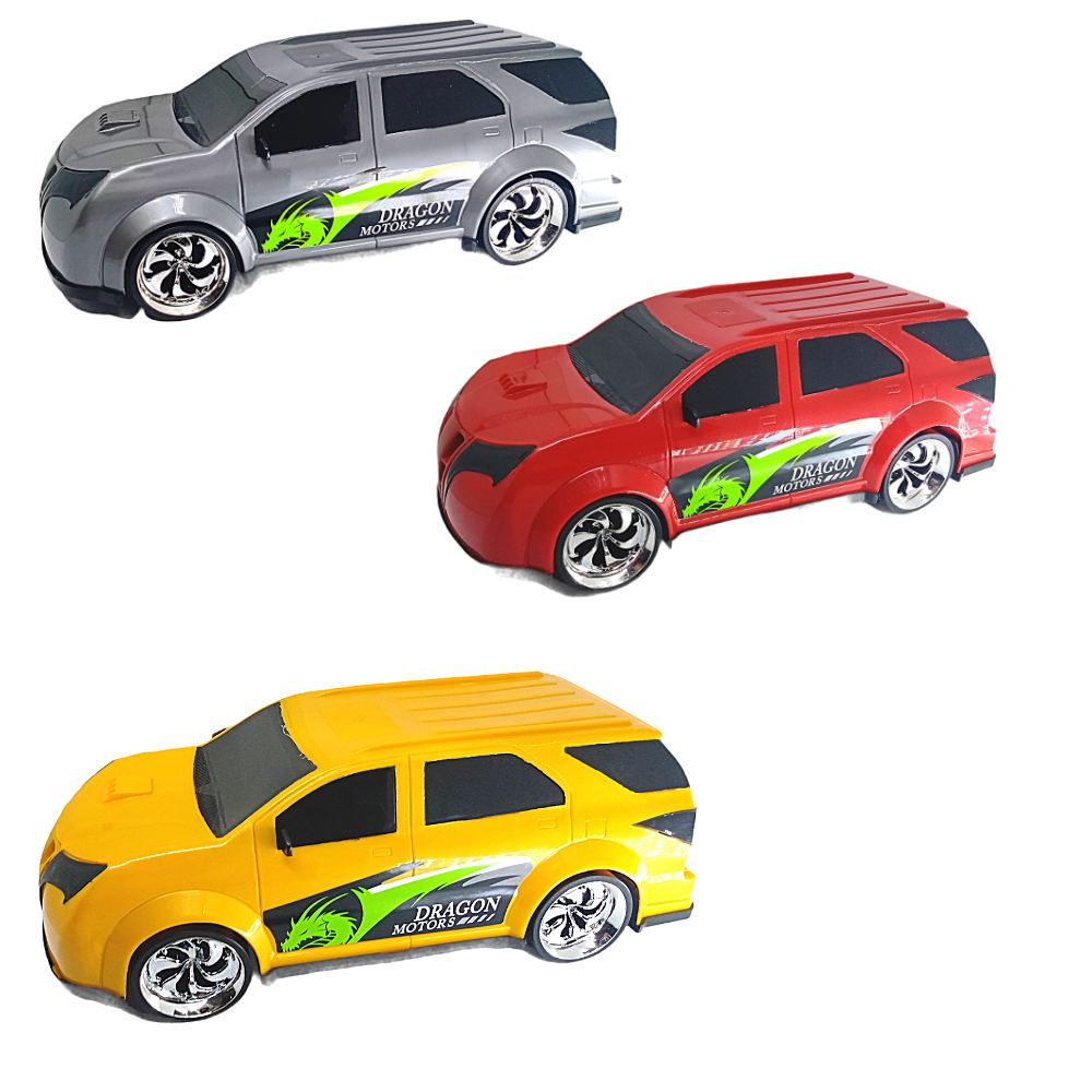 Carro de Brinquedo Cometa Dragon Motors C/ 3 modelos