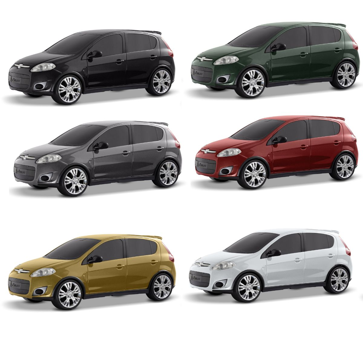 Carro de brinquedo Fiat Palio de Plástico