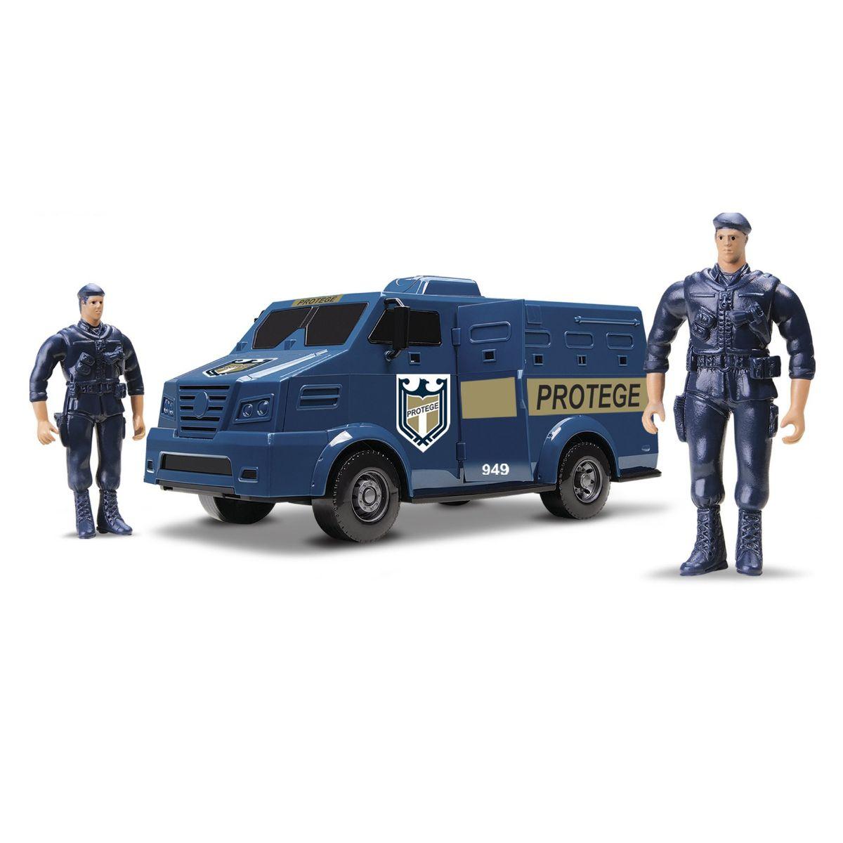 Carro de Brinquedo Van Transporte de Valores Azul