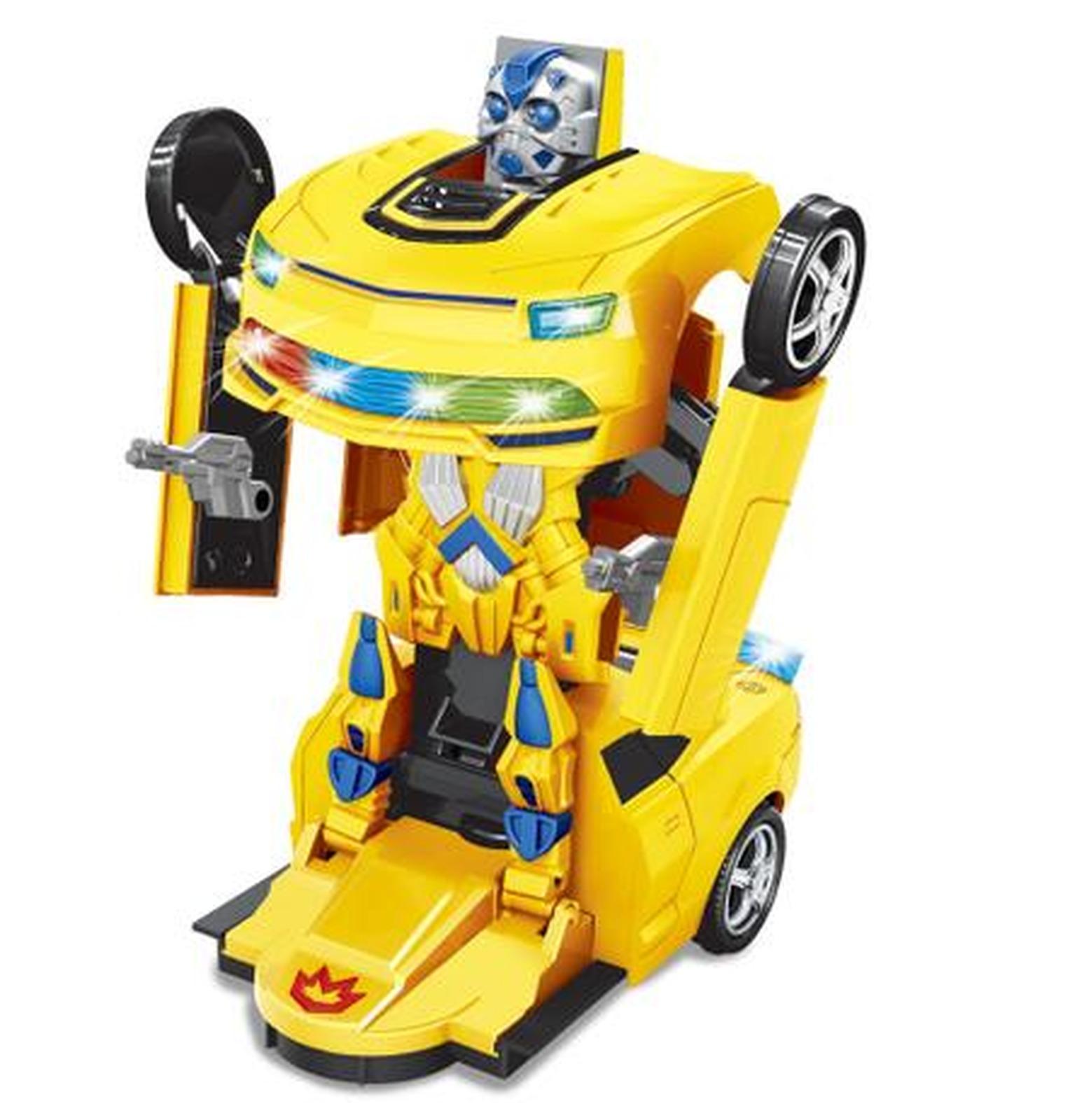 Carro Robo Bate e Volta Amarelo