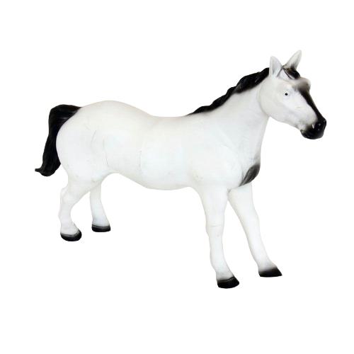 Brinquedo Boneco De Vinil Cavalos Cavalo Branco de Vinil - Db Play