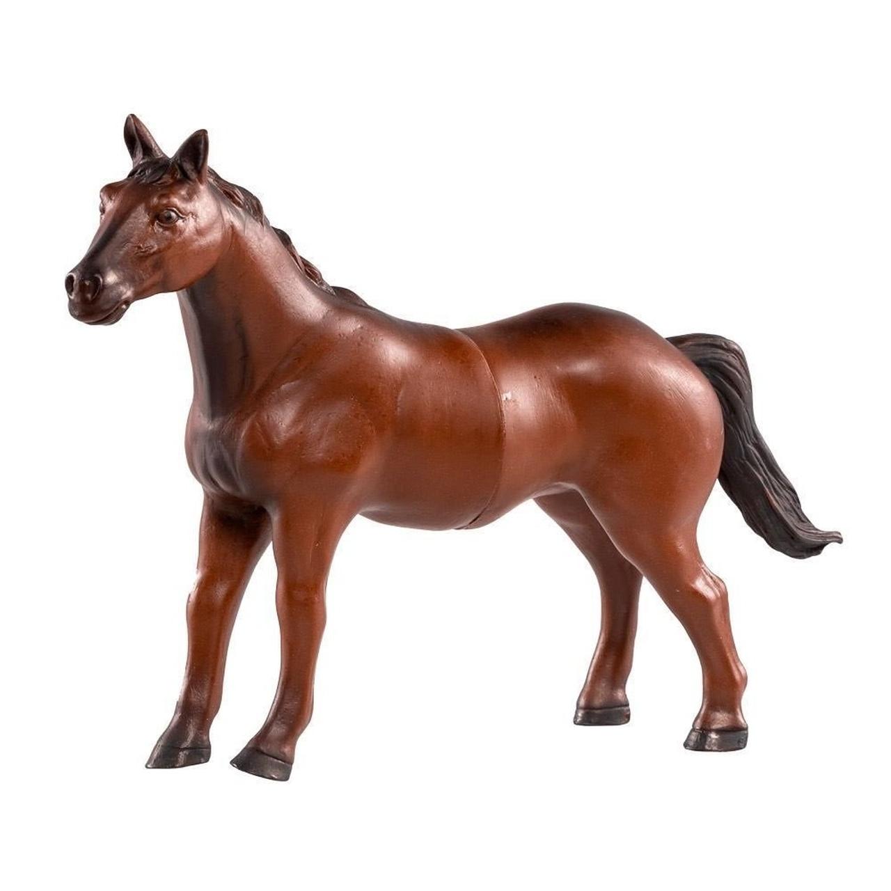 Brinquedo Boneco De Vinil Cavalos Cavalo Marrom de Vinil - Db Play