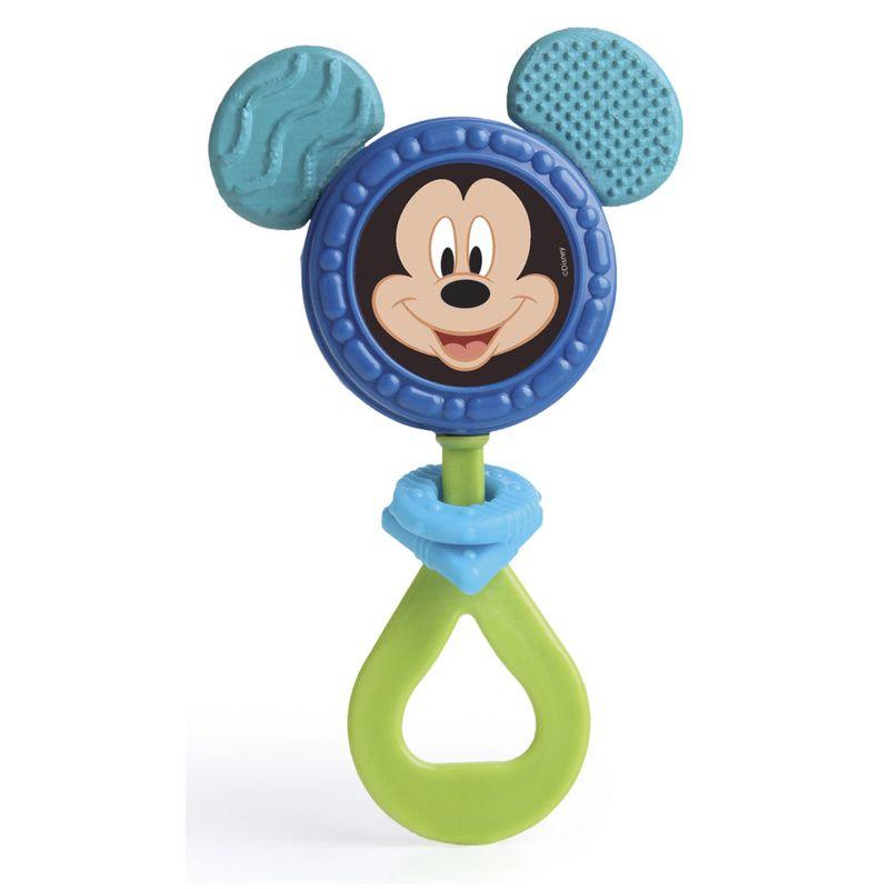 Chocalho Mordedor Mickey Orelhas Macias Disney Azul Elka