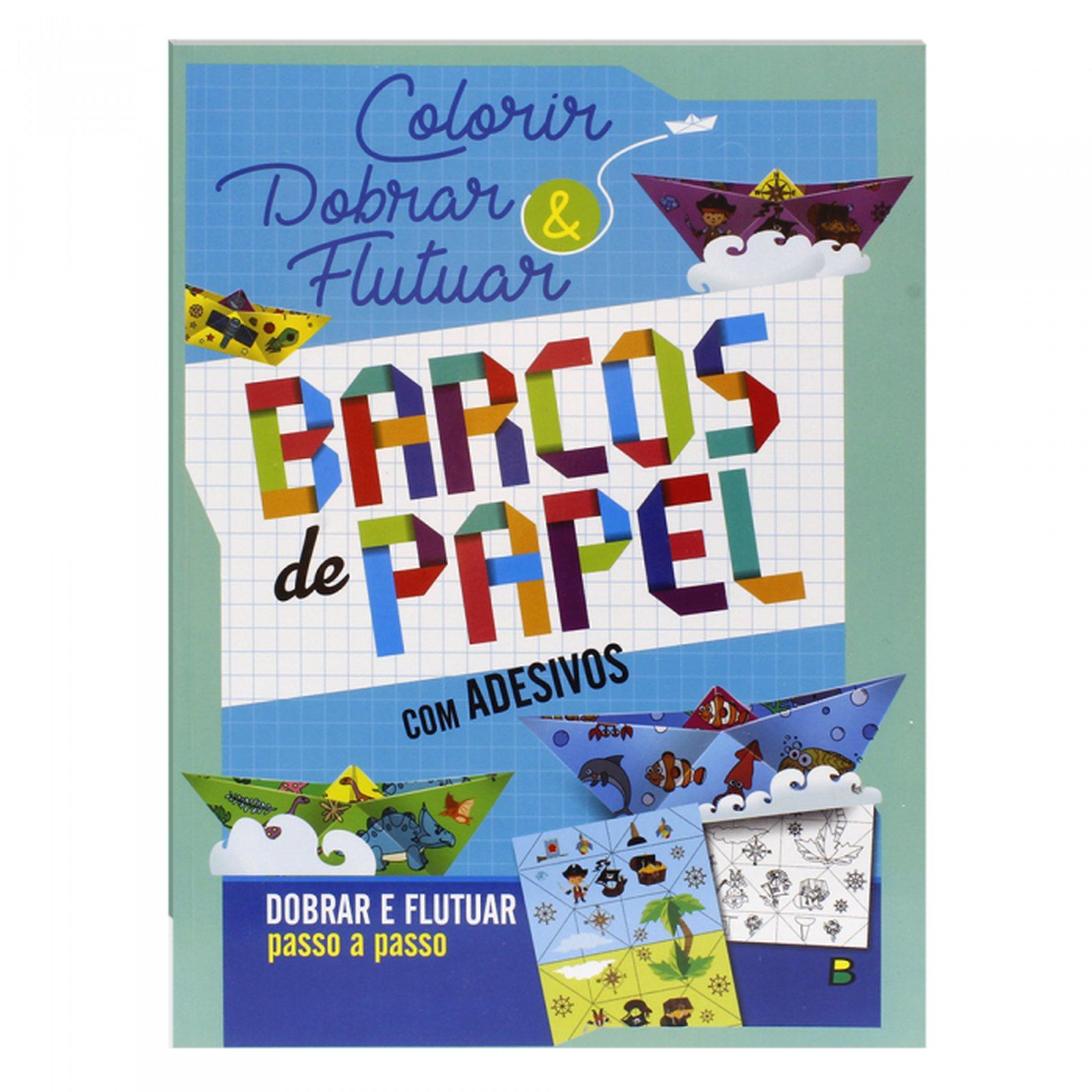Colorir e Dobrar: Barcos de Papel