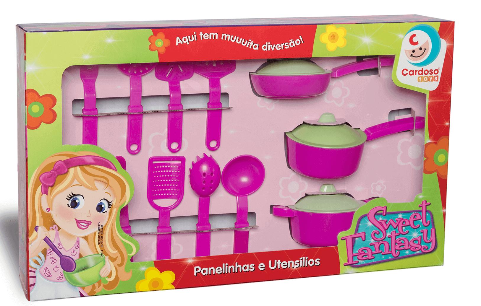 Conjunto Sweet Fantasy Panelinha e utensilios - Cardosos