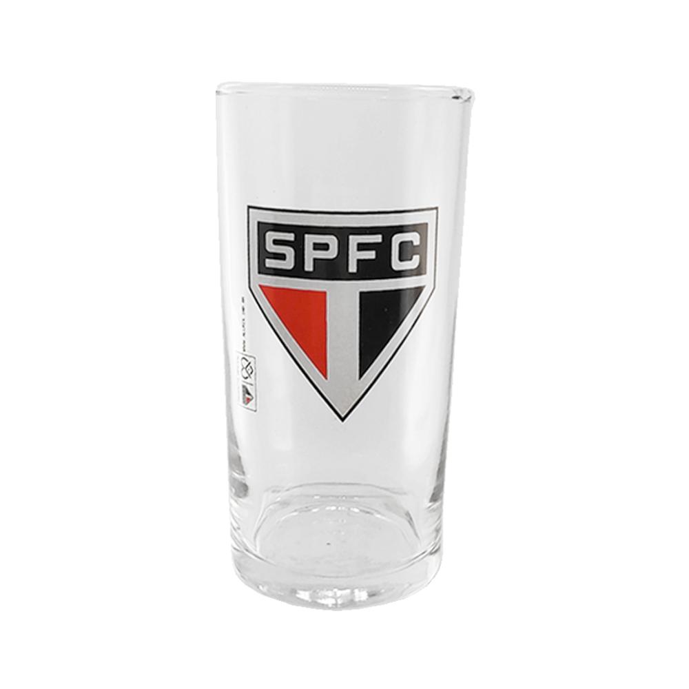 Copo de Vidro Time SPFC Long Drink Futebol