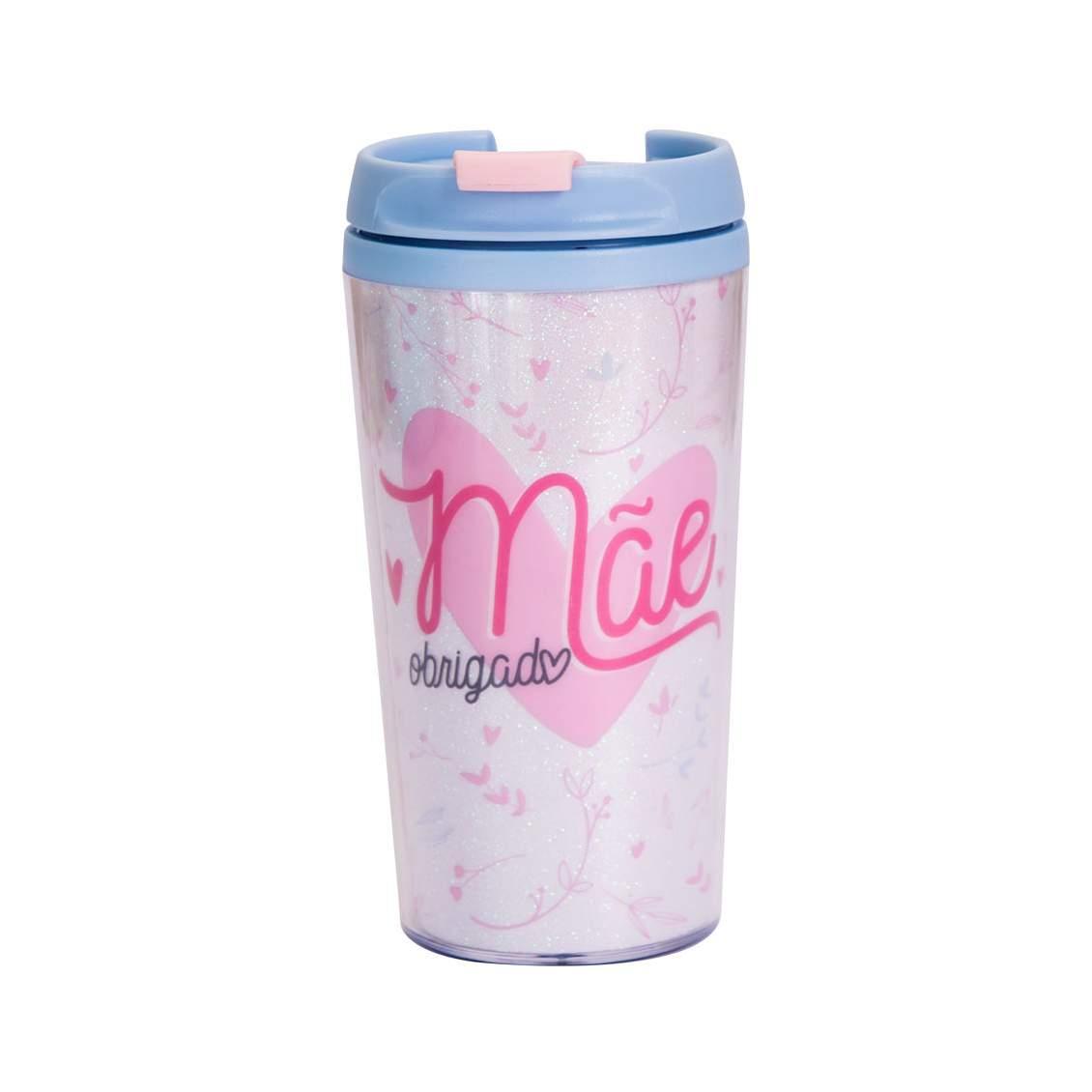 Copo Termico Pop Glitter Obrigado Mae - Uatt