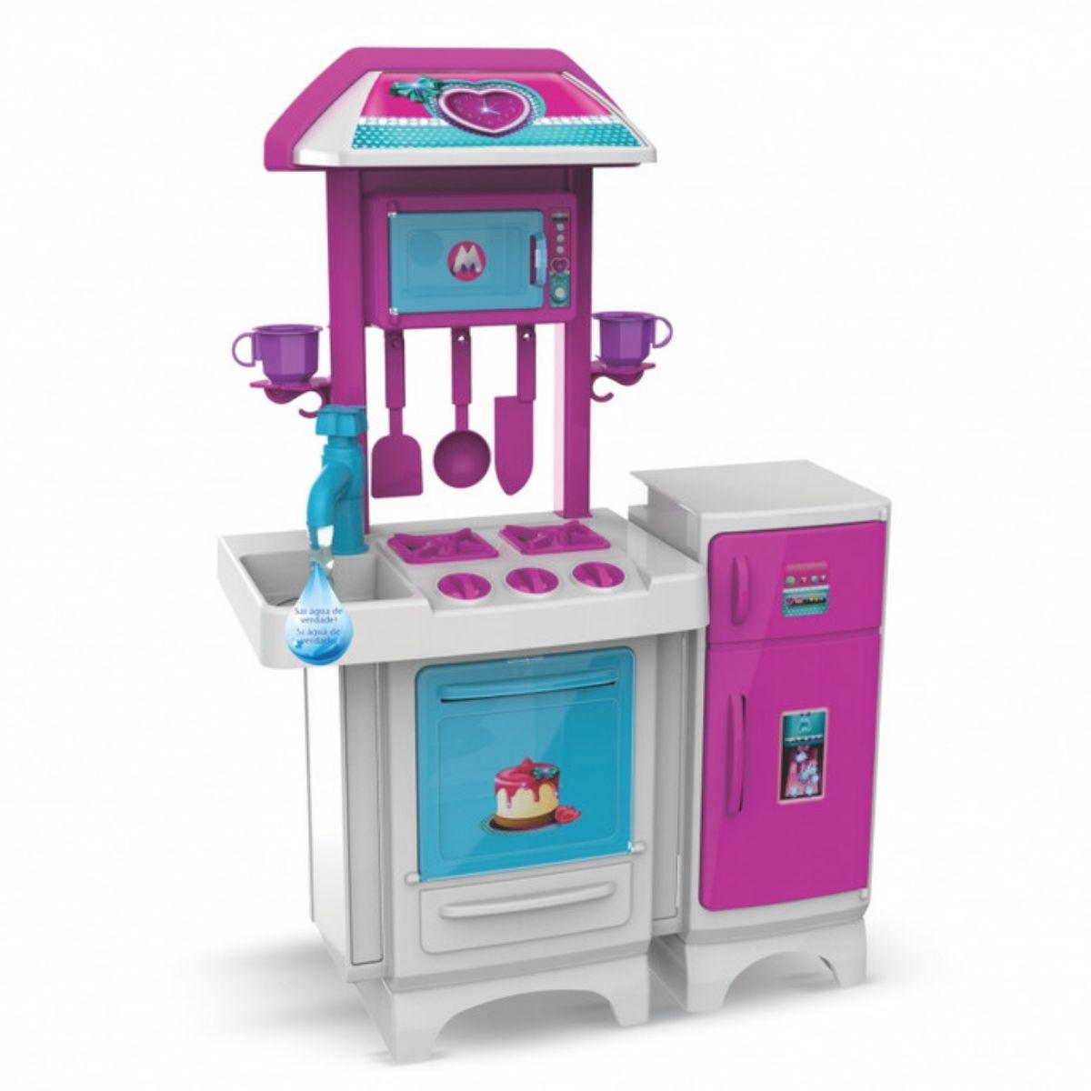 Cozinha Rosa Pink Com Água Completa Brinquedo Infantil