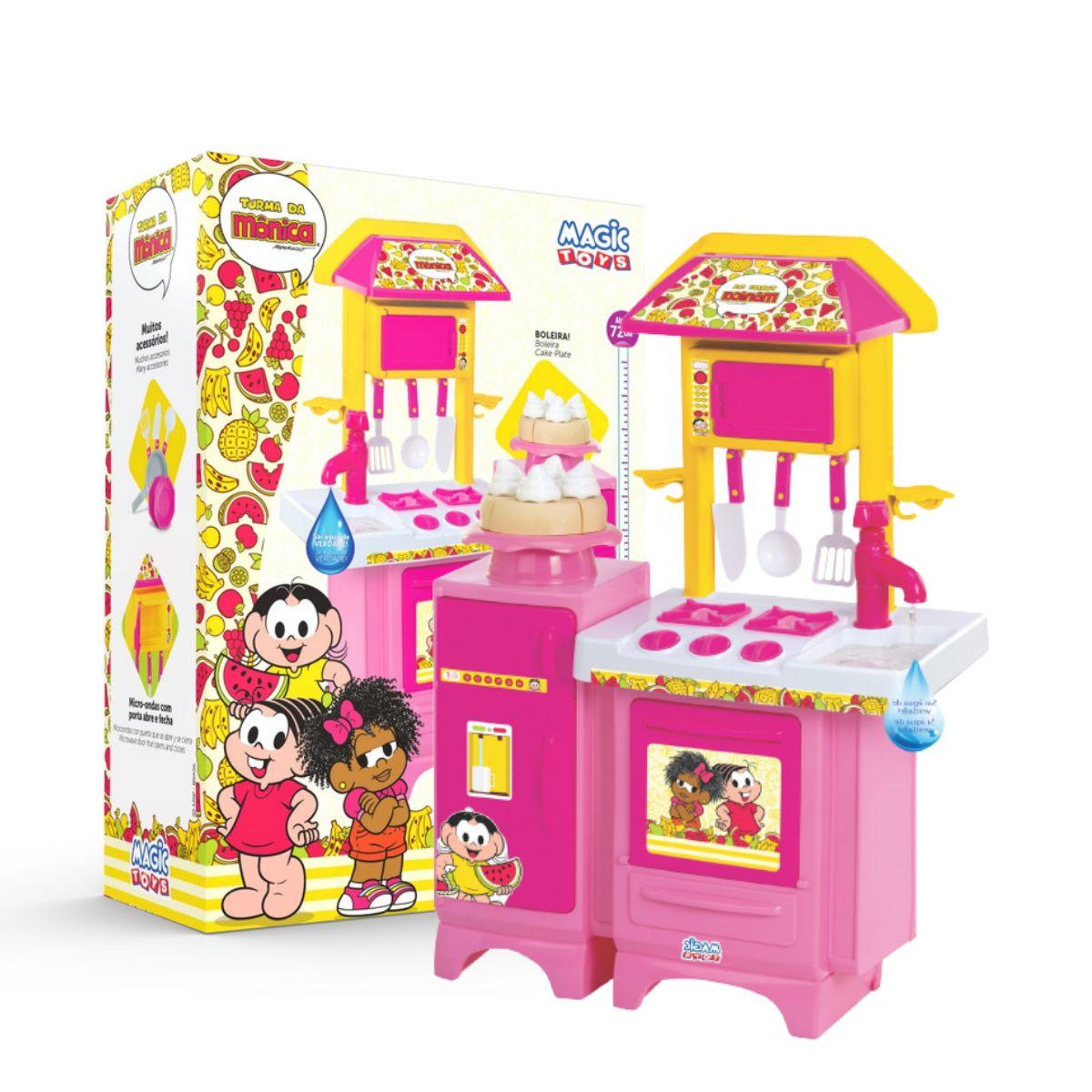 Cozinha de Brinquedo Turma da Mônica Sai Água