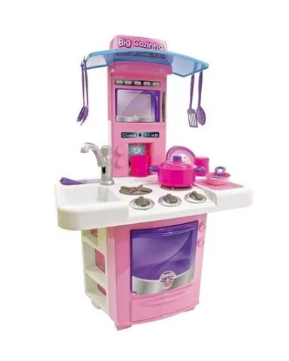 Cozinha Completa Infantil Menina -SAI AGUA Tem Forno Fogão Pia