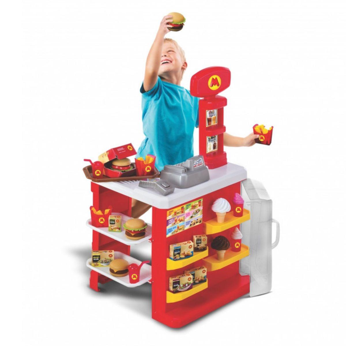 Cozinha Infantil Lanchonete Hamburgueria com acessórios Magic