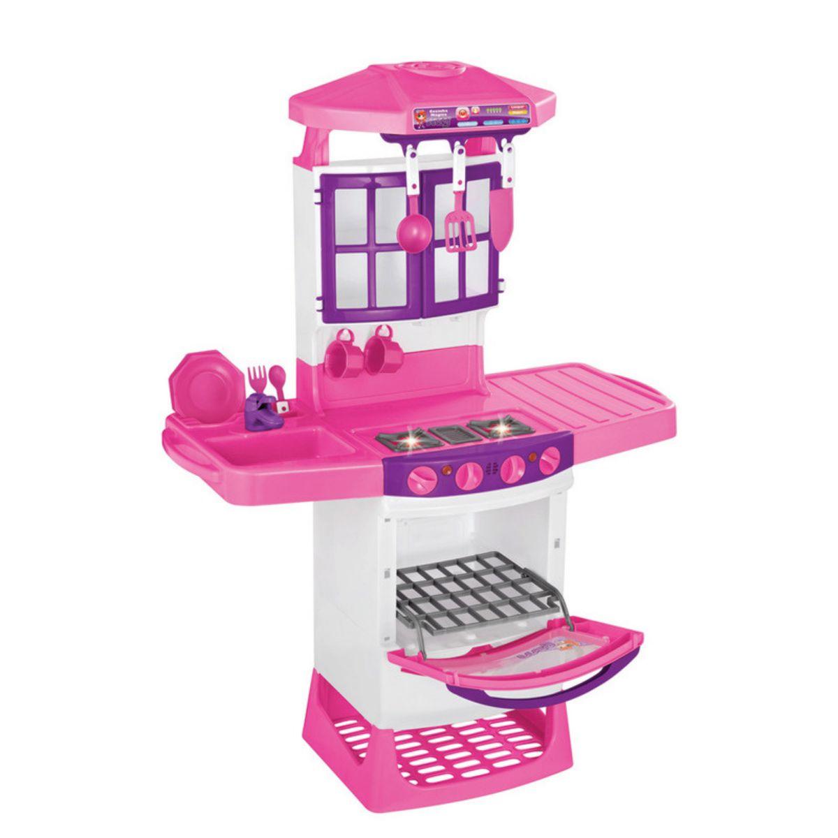 Cozinha Mágica Infantil Eletrônica Meg com Água Botões e Luz