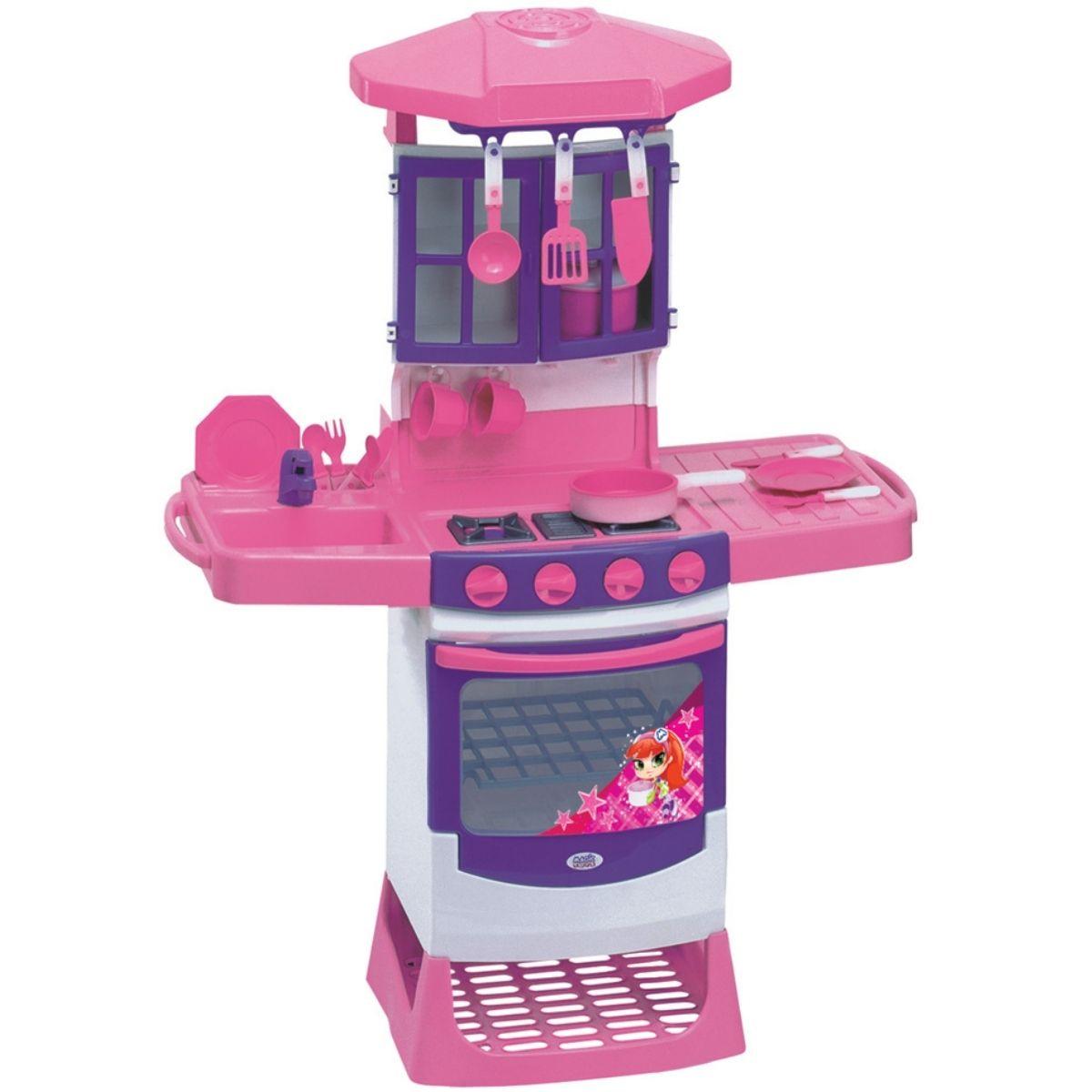 Cozinha Magica Infantil Rosa Menina 8000P - Magic Toys